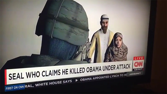Oops, Mr President! CNN typo 'Navy SEAL killed Obama' has Twitter in stitches (VIDEO)