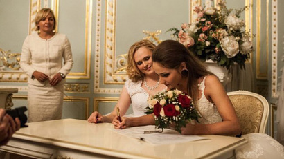 LGBT marriage? Two brides officially tie the knot in Russia (PHOTOS)