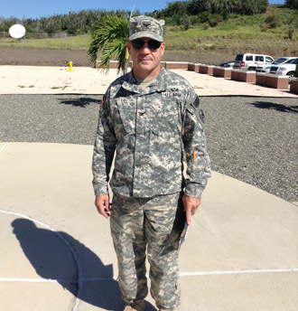 US Army Colonel David Heath poses for a photo on November 7, 2014, at Guantanamo Bay detention camp in Cuba. Heath is the Joint Detention Group's new commander asince June 2014. (AFP Photo)