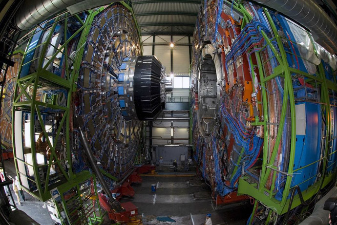 The Large Hadron Collider (LHC) at the CERN (Photo from higgsboson.wikia.com)
