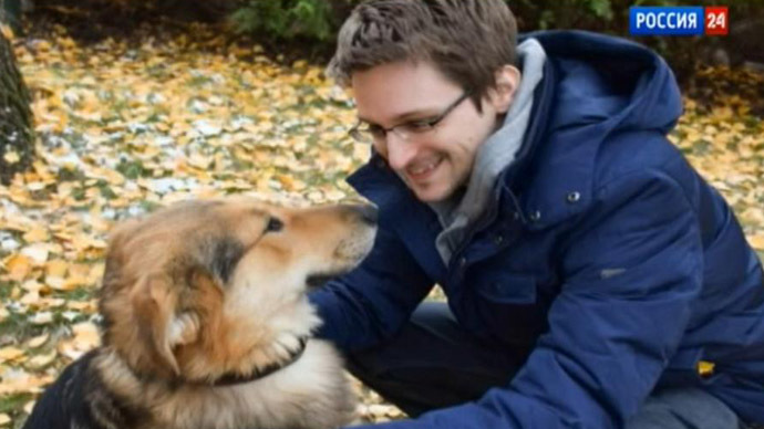 Meet Edward Snowden's new friend: Rick the dog