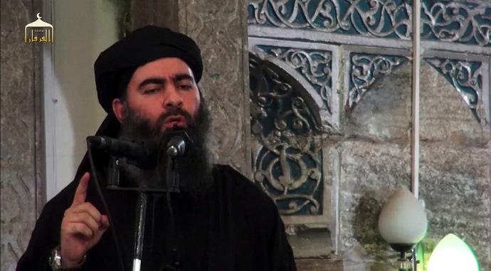 Leader of the Islamic State (IS) jihadist group, Abu Bakr al-Baghdadi. (AFP/Al-Furqan Media)