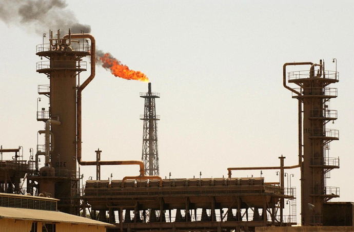 A general view shows Iraq's largest oil refinery in the northern town of Baiji (AFP Photo/Stan Honda)