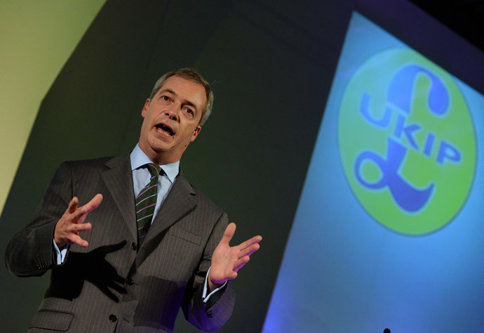 Leader of the UK Independence Party (UKIP) Nigel Farage (AFP Photo)
