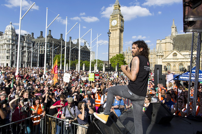 British actor and comedian Russell Brand (AFP Photo / Justin Tallis)