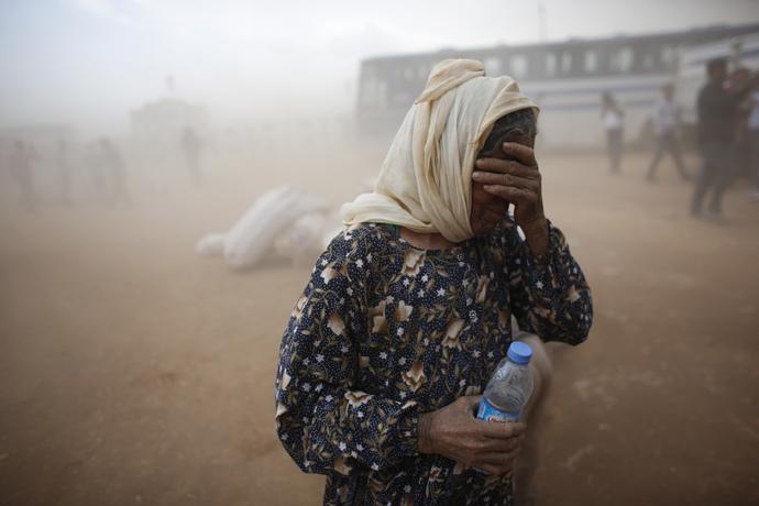 A Kurdish Syrian refugee (Reuters / Murad Sezer)