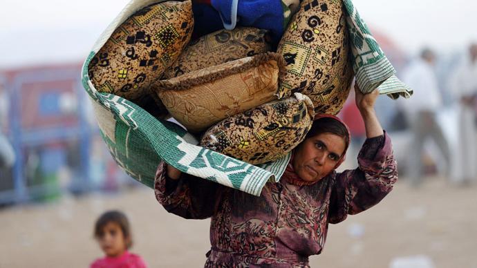 A Syrian Kurdish woman (Reuters / Murad Sezer)