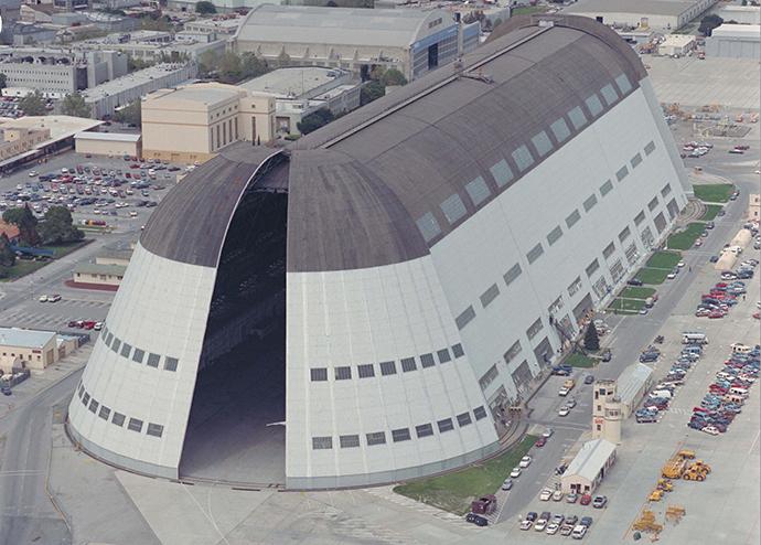 Hangar 1 at Moffett Field (Image from nasa.gov)