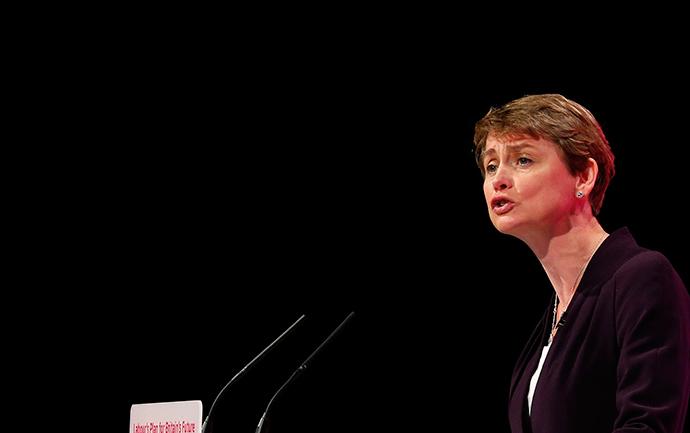 Yvette Cooper, Britain's Shadow Home Secretary.(Reuters / Suzanne Plunkett)