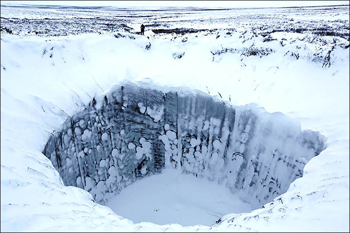 Image from siberiantimes.com by Vladimir Pushkarev / Russian Centre of Arctic Exploration