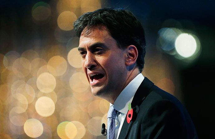 Britain's opposition Labour Party leader Ed Miliband (Reuters / Suzanne Plunkett)