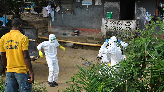 Ebola health workers go on strike in Sierra Leone