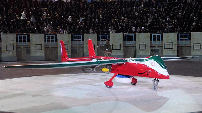 "Iranian made drone ""Epic"" (AFP Photo / ISNA News)"