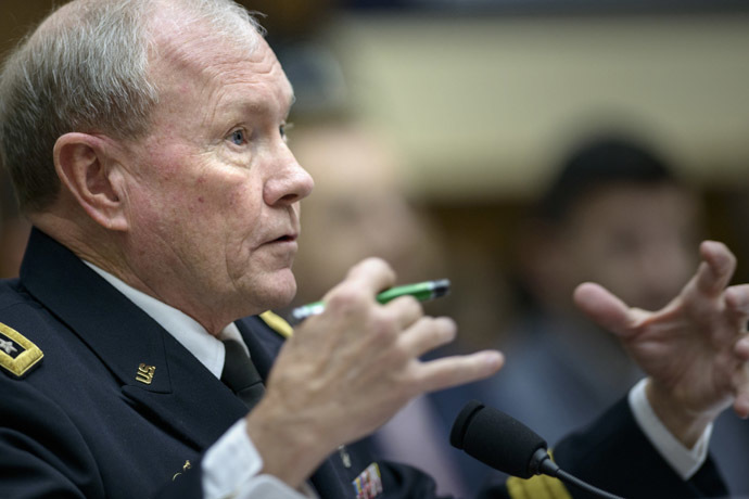 Chairman of the Joint Chiefs of Staff Gen. Martin Dempsey (AFP Photo/Brendan Smialowsky)