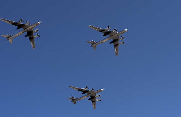 Russian Tupolev Tu-95 strategic bombers. (RIA Novosti / Alexander Vilf)