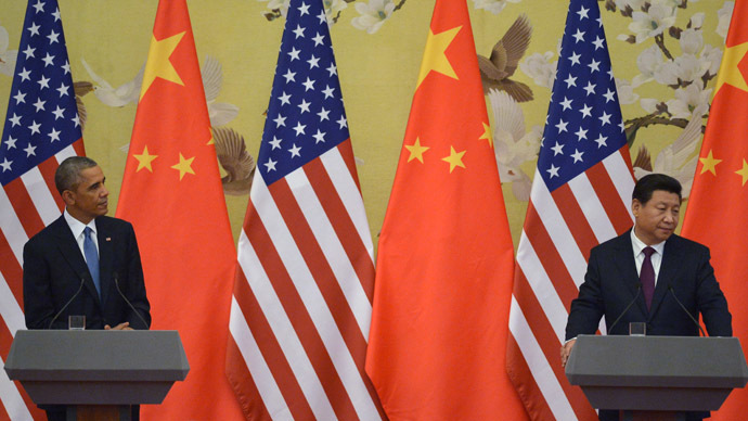 US President Barack Obama (L) and Chinese President Xi Jinping (AFP Photo/Greg Baker)