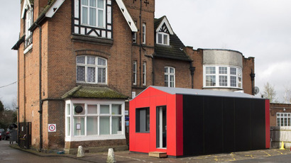 Charity builds 'Lego houses' to tackle UK rent crisis