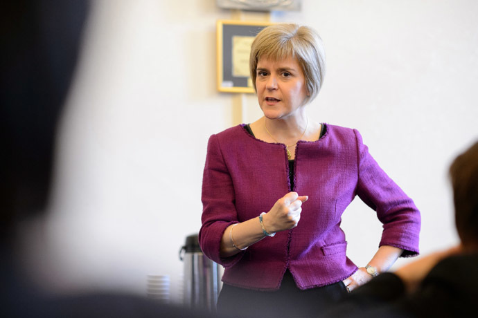 Deputy First Minister Nicola Sturgeon (AFP Photo/Leon Neal)