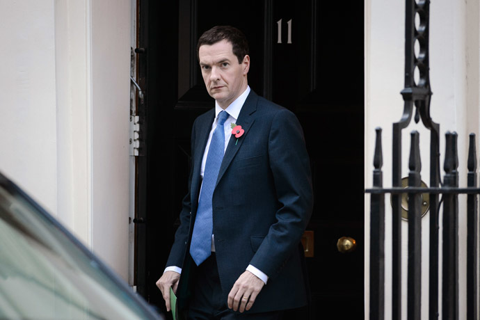 Chancellor of the exchequer, George Osborne. (AFP Photo)