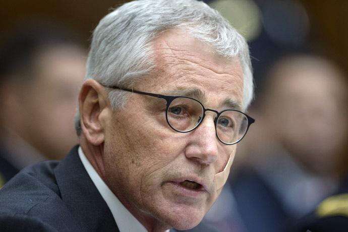 US Secretary of Defense Chuck Hagel (AFP Photo)