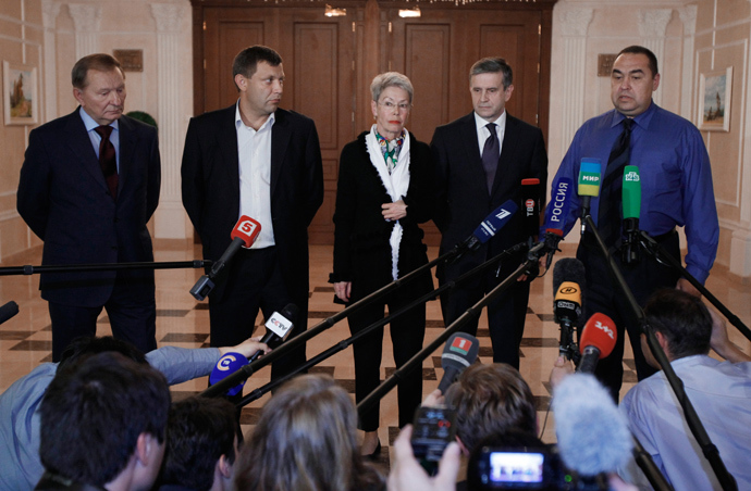 A meeting of the Contact Group on Ukrainian reconciliation in Minsk, Belarus (RIA Novosti)