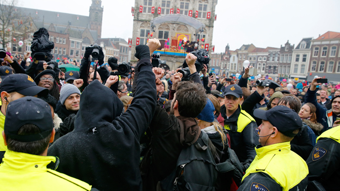 90 arrested amid protest over 'racist' Dutch 'Black Pete' festival
