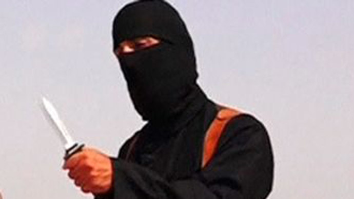 Still from youtube video depicting ISIS member, Jihadi John.