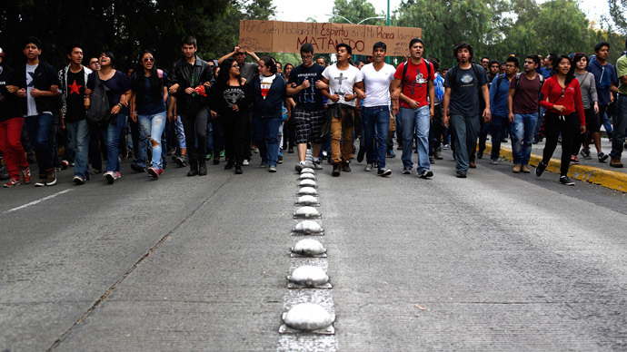 Protests over 43 missing students sweeping to a head in Mexico