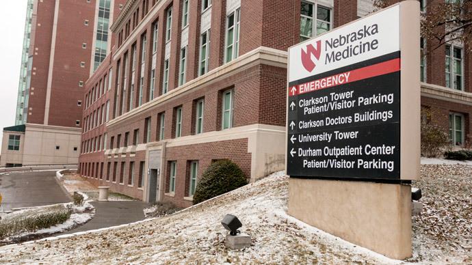 A view of the emergency entrance at the Nebraska Medical Center Biocontainment Unit in Omaha, Nebraska, November 15, 2014.(Reuters / Brian C. Frank)
