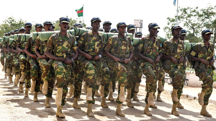 Somalian army special commando unit.(AFP Photo / David Mutua)