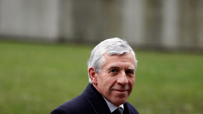 Britain's former foreign secretary, Jack Straw. (Reuters / Stefan Wermuth)