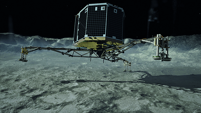 Philae touchdown (Image from flickr.com/DLR German Aerospace Center)
