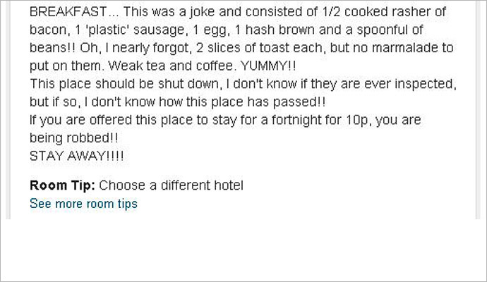 Jenkinson's review on TripAdvisor.com