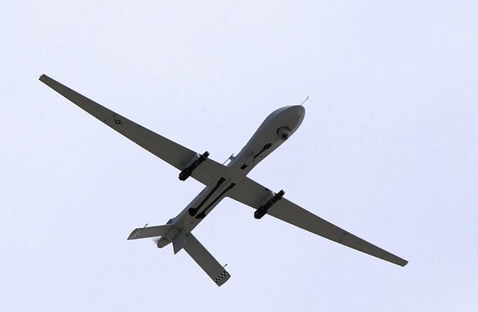 A U.S. Air Force MQ-1 Predator, unmanned aerial vehicle, armed with AGM-114 Hellfire missiles (Reuters/U.S. Air Force)