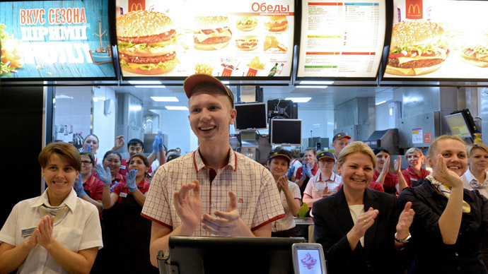 Happy Meals again: McDonalds reopens flagship Moscow store after 3-month closure