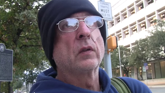 Homeless Texan becomes YouTube star after filming what it's like to live on street (VIDEO)