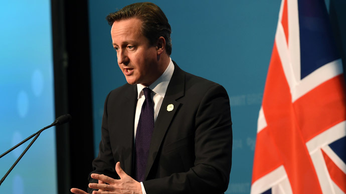 Britain's Prime Minister David Cameron (AFP Photo/William West)