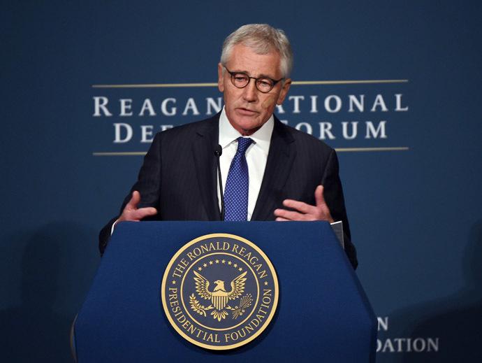 US Defense Secretary Chuck Hagel (AFP Photo)