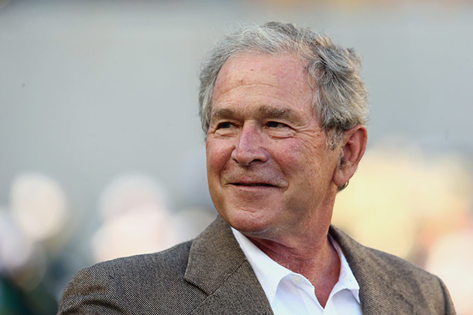 Former U.S. President George W. Bush (AFP Photo/Ronald Martinez)
