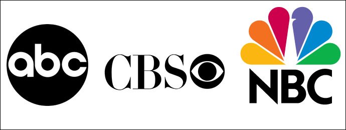 ABC, CBS and NBC logo