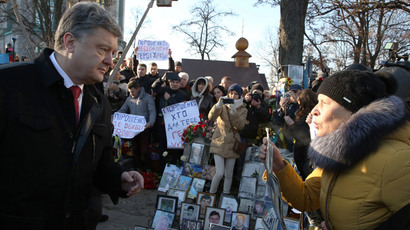 Pensioners storm banks, sue president as economic blockade enforced on E.Ukraine