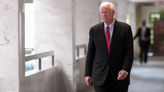 Ranking member of the Senate Intelligence Committee Sen. Saxby Chambliss (Drew Angerer / Getty Images / AFP)