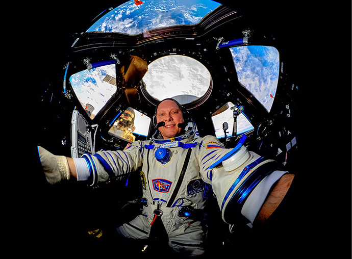 Russian cosmonaut Oleg Artemyev.