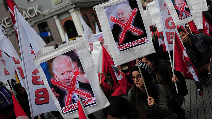 'Biden get out!' Turks protests US VP visit to Istanbul (PHOTOS, VIDEO)