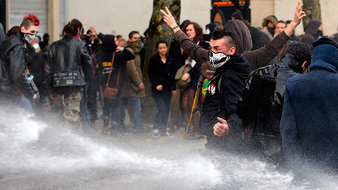 French police unleash water cannon, tear gas against anti-brutality protesters (VIDEO)