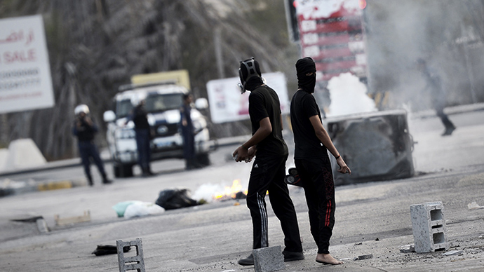 Protesters clash with Bahraini forces, call election 'farce' (PHOTOS, VIDEO)