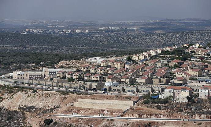 A picture taken on September 5, 2014 shows a partial view of the Israeli settlement of Revava, in northwest West Bank. Israel said it published tenders for 283 new homes in a West Bank settlement, just days after announcing its biggest land grab on occupied Palestinian territory for three decades. (AFP Photo/Thomas Coex)