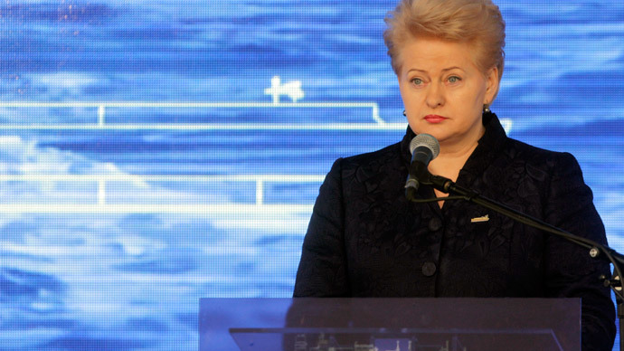 Lithuania's President Dalia Grybauskaite.(Reuters / Ints Kalnins)