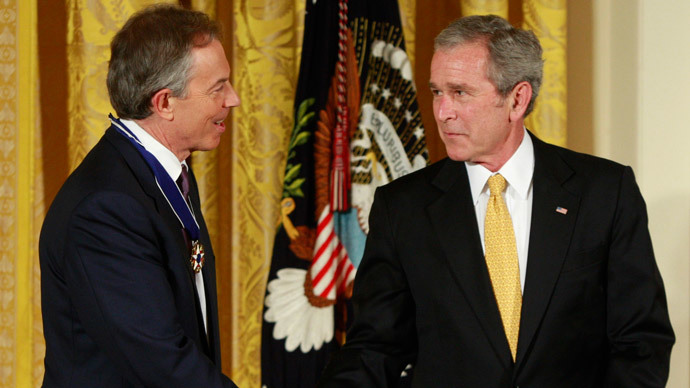 Former British Prime Minister Tony Blair (L) and George W. Bush.(Reuters / Jason Reed)