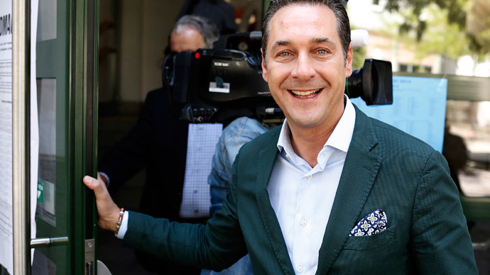 Heinz-Christian Strache, leader of right-wing Austrian Freedom Party.(AFP Photo / Dieter Nagl)